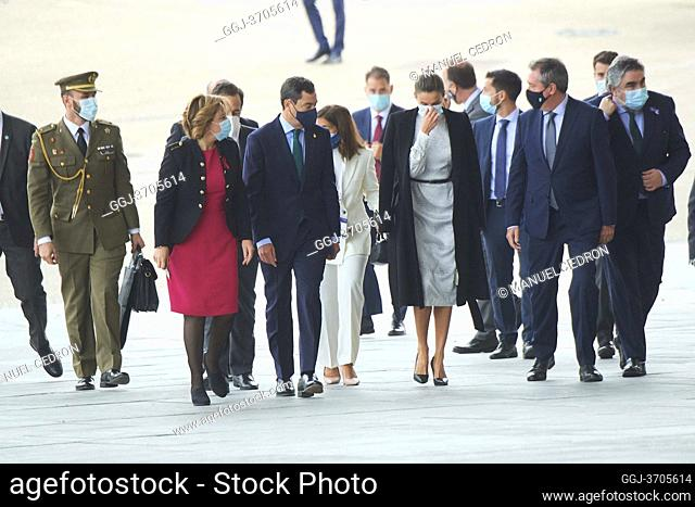 Queen Letizia of Spain attends the Opening of the Tourism Innovation Summit (TIS 2020) at FIBES on November 25, 2020 in Sevilla, Spain