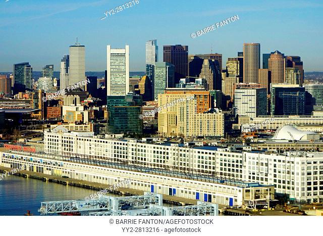 Boston Massachusetts Skyline and Waterfront