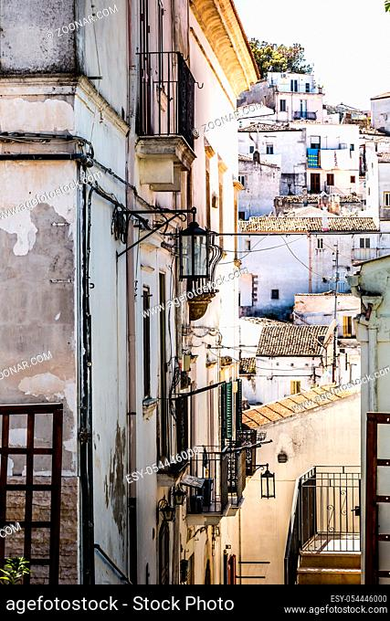 Scenic sight in Monte Sant'Angelo, ancient village in the Province of Foggia, Apulia (Puglia), Italy