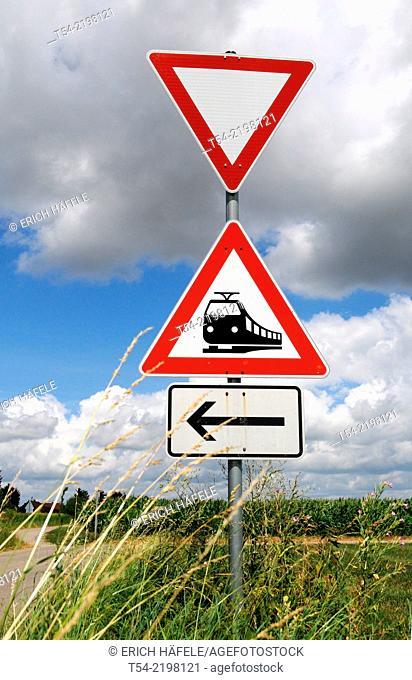 Triangular road signs