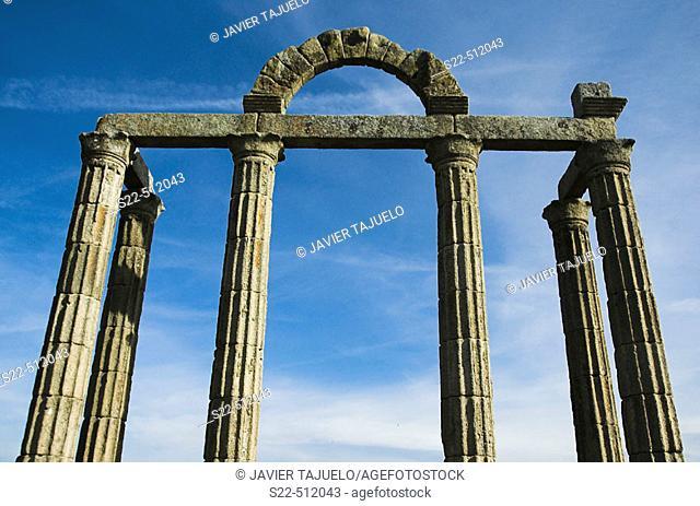 Roman Portico. (Augustóbriga) Bohonal de Ibor. Talavera la Vieja. Spain