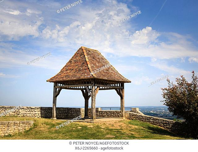 Gazebo viewpoint over the countryside around the Chateau de Monbazillac France