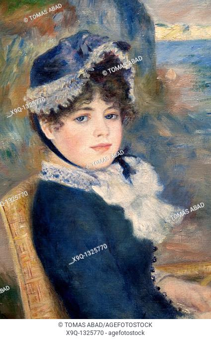 Detail: By the Seashore, 1883, by Auguste Renoir, French, Oil on canvas 36 1/4 x 28 1/2 in  92 1 x 72 4 cm, Metropolitan Museum of Art, New York City
