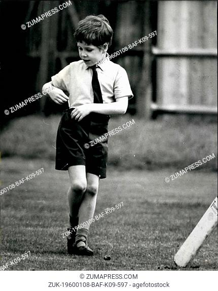 Feb. 28, 2012 - Totally unaware of the photographer catching him 7 years old Viscount Linley gets bored during a game of cricket with some of his classmates