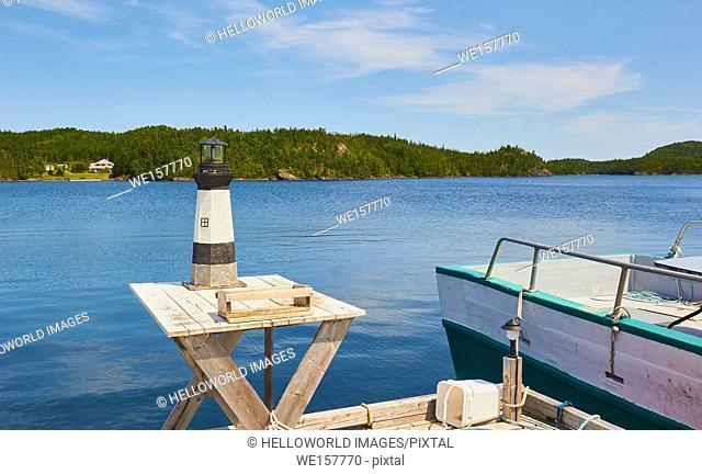 Model lighthouse, Newfoundland, Canada