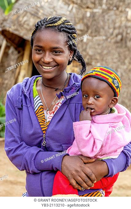 A Dorze Woman and Child, Hayzo Village, Arba Minch, Ethiopia