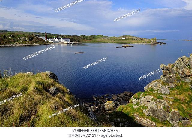 United Kingdom, Scotland, Inner Hebrides, Islay Island, Port Ellen, Lagavulin Scotch whisky distillery