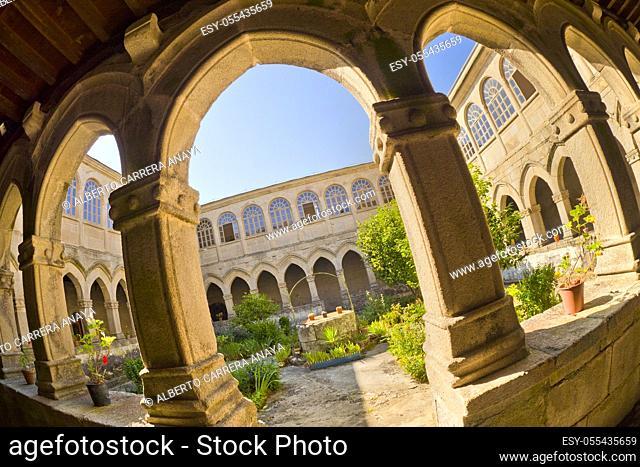 Hostel Monastery of La Magdalena, 13th Century Romanesque Style, Sarria, Lugo, Galicia, Spain, Europe