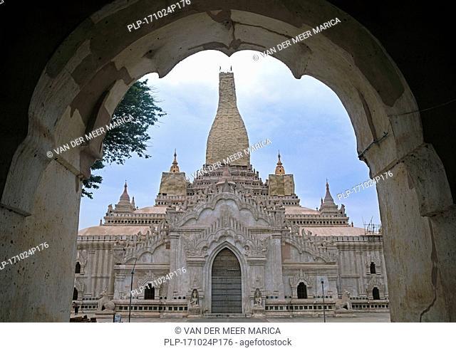 Ananda Temple in Bagan / Pagan, stupa damaged by 1975 earthquake, Mandalay Region, Myanmar / Burma
