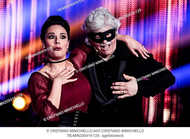Antonio Razzi during the performance at the tv show Ballando con le stelle (Dancing with the stars) Rome, ITALY-20-04-2019