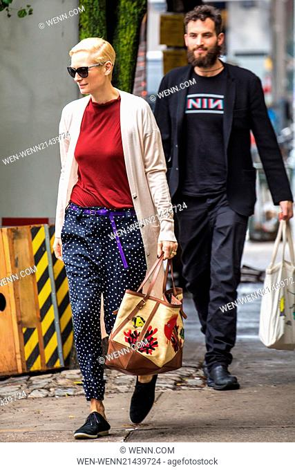 Tilda Swinton Leaving The Film Set Trainwreck With Her Boyfriend Sandro Kopp Featuring Tilda Stock Photo Picture And Rights Managed Image Pic Wen Wenn21439724 Agefotostock