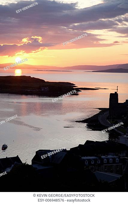 Kerrera Island and Isle of Mull from Oban; Scotland