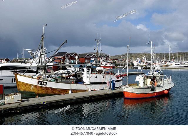 Fischerboote im Smabathavn, Bodö, Nordland, Norwegen