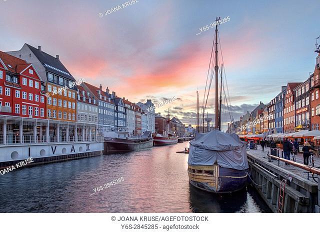 Nyhavn, Copenhagen, Denmark, Scandinavia