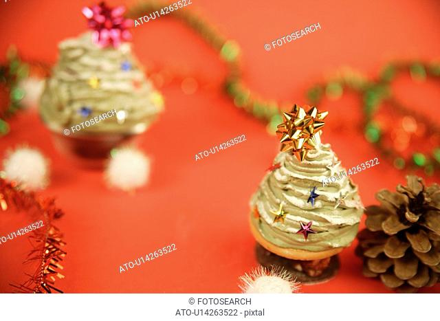 View of decorated sweets