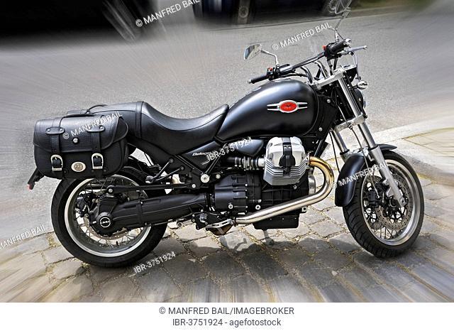 Moto Guzzi Bellagio motorcycle, Haidhausen, Munich, Upper Bavaria, Bavaria, Germany