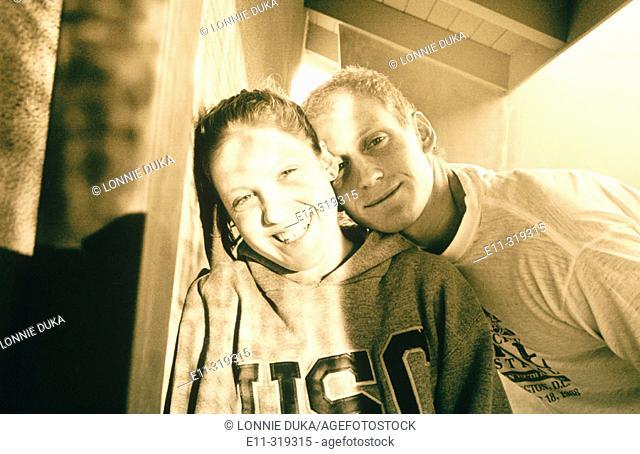 Teen boy and girl