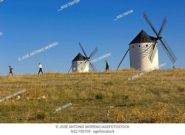 Windmills. Campo de Criptana. Ciudad Real province, Ruta de don Quijote. Castilla-La Mancha, Spain