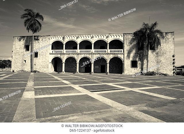Dominican Republic, Santo Domingo, Zona Colonial, Plaza Espana, Museo Alcazar de Colon, Museum Citadel of Columbus, onetime residence of Diego Columbus