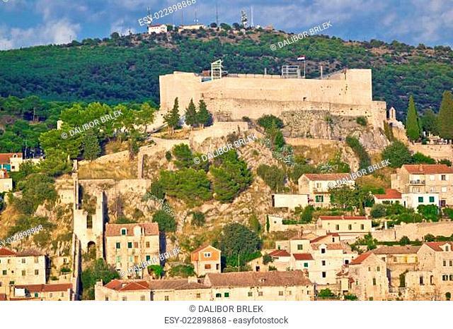 Sibenik fortress on the hill