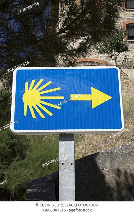 Camino de Santiago - St James Way Sign, Astorga, Spain