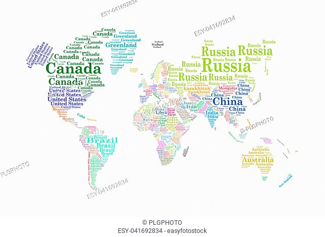 Australia Word Map.White Australia Word Cloud Map Stock Photos And Images Age Fotostock