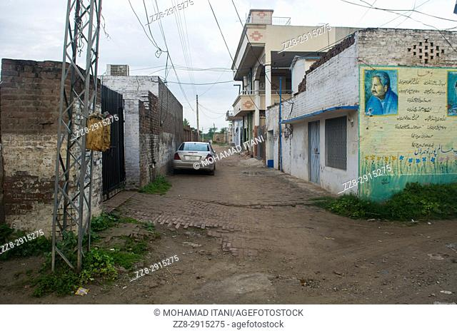 Empty street kharian village pakistan