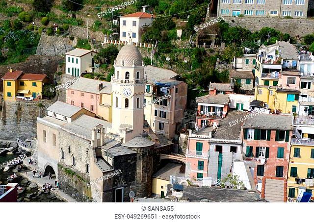 View of Vernazza, Liguria, Italy