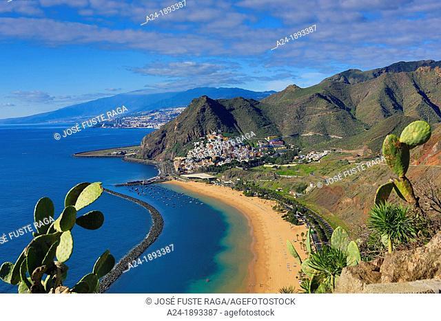 Spain , Canary Islands , Tenerife Island , San Andres City , Las Teresitas Beach