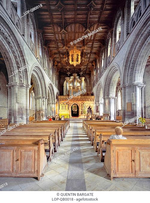 South Wales, Pembrokeshire, St David's, Interior of St Davids Cathedral