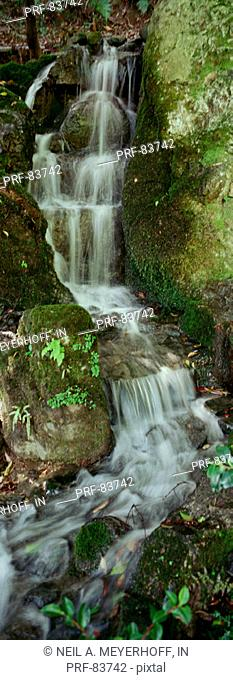 Temple Waterfall Kyoto Japan