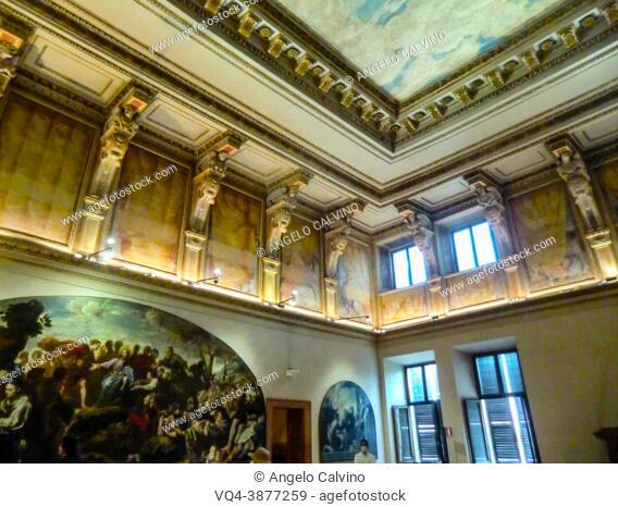 Palazzo Ducale di Mantova, Mantua, Castello di San Giorgio in Palazzo Ducale 1390-1406, build on order of Francesco I Gonzaga after Projects by Bartolino di...