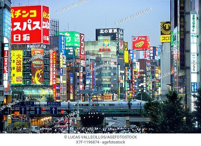 Shinjuku  Zone of Kabukicho  Yasukumi Dori Tokyo city, Japan, Asia