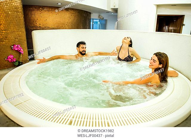 Friends enjoying a spa