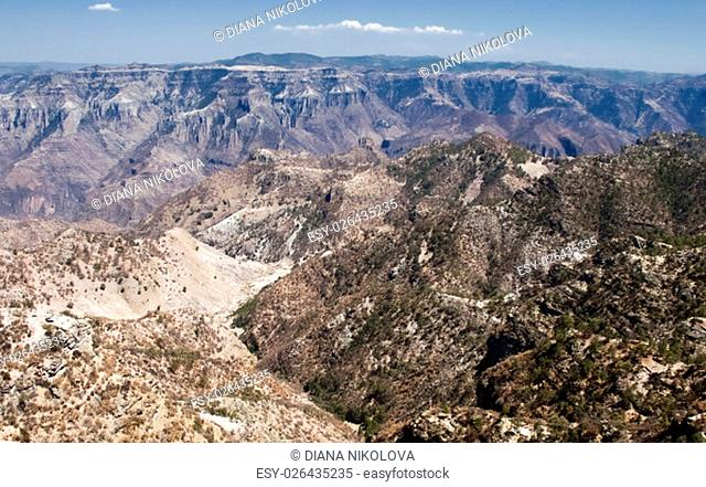 Panoramic view of Copper Canyon, Chihuahua, northwestern Mexico
