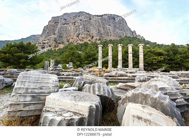 Ruins of the Sanctuary of Athena; Priene, Turkey