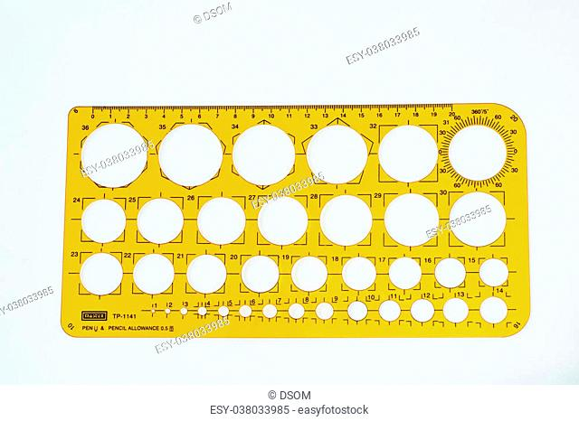 The drafting supplies on a white background