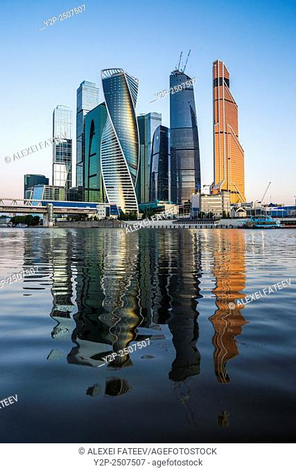 Moscow business center at sunsrise