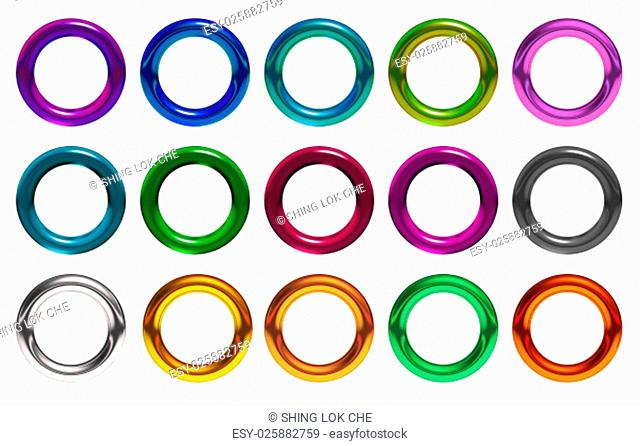 The 3d rings geometric with multiple materials