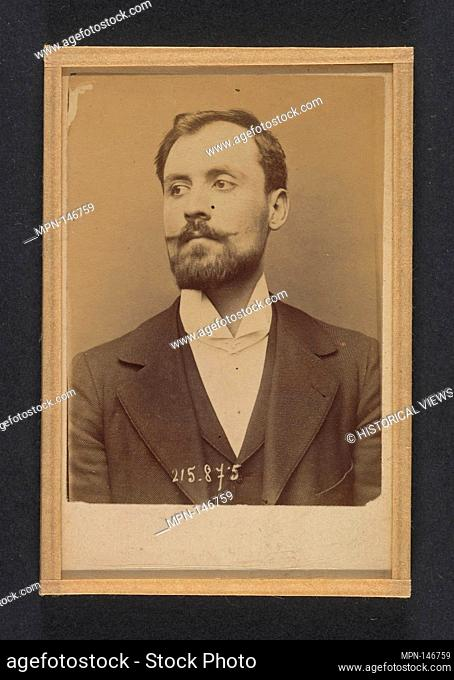 Bertani. Orsini. 24 ou 25 ans, né à Florence (Italie). Sans profession. Anarchiste. 18/3/94. Artist: Alphonse Bertillon (French