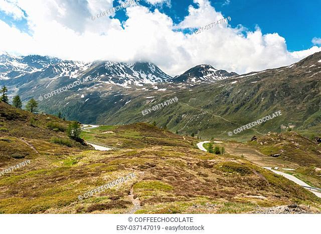 Panoramic view on Simplon Pass, Switzerland