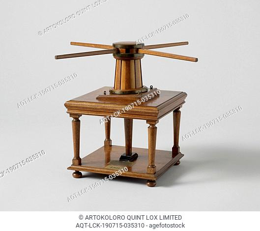 Model of a Capstan, Model of a capstan in a two-level wooden frame. It is a capstan for eight wind trees and has no catches to prevent it from falling back