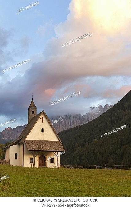St. Sebastiano church, Nova Levante/Welschnofen, Bolzano province,South Tyrol,Italy