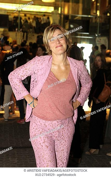"""The protagonist of the film """"""""La Pazza Goia"""""""" Valeria Bruni Tedeschi attends at the premiere in Athens"""
