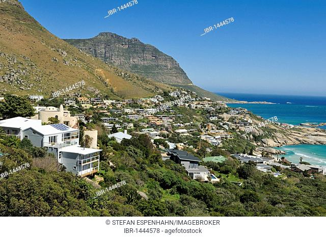 Houses in the Bay of Llandudno, Cape Town, Western Cape, South Africa, Africa