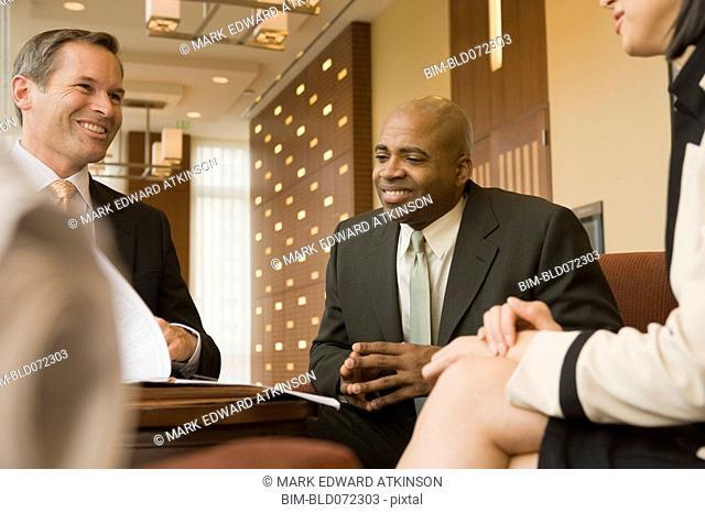 Multi-ethnic business people meeting