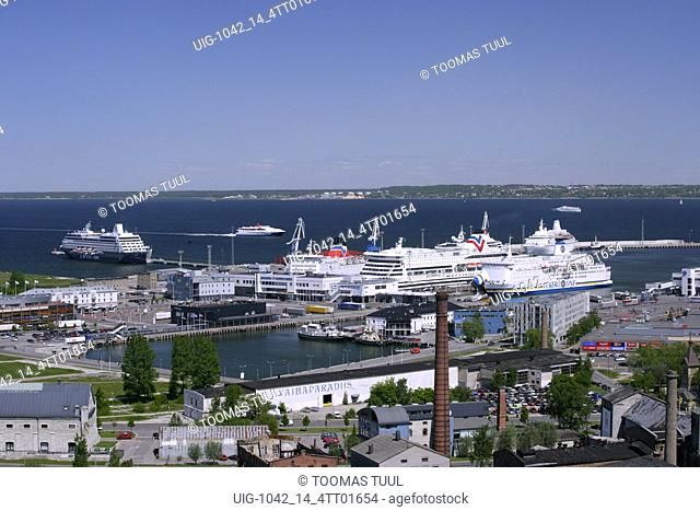 Aerial View of The Port of Tallinn