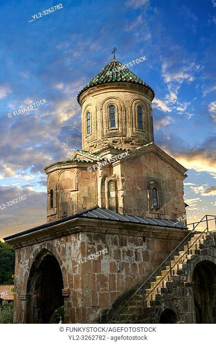 Pictures & images of Gelati Georgian Orthodox church of St. Nicholas, 13th century. The medieval Gelati monastic complex near Kutaisi in the Imereti region of...
