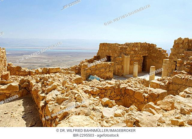 Jewish Masada Fortress, UNESCO World Heritage Site, West Bank, Israel, Middle East