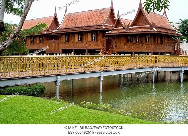 Vimanmek Palace or Vimanmek Teak Mansion. Dusit Park. Bangkok, Thailand